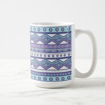 Aztec Themed Purple Blue Aztec Modern Stylish Trendy Coffee Mug