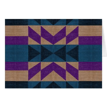 Aztec Themed Purple Blue Aztec Pattern Card