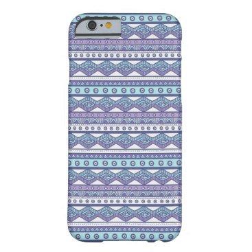 Aztec Themed Purple Blue Aztec Stylish Modern iPhone 6 Case