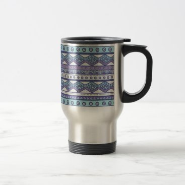 Aztec Themed Purple Blue Aztec Stylish Modern Trendy Travel Mug