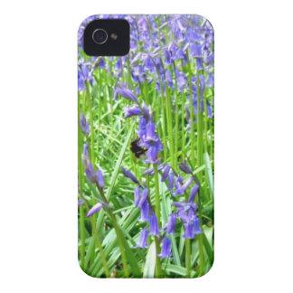 Purple blue bells blossom iPhone 4 Case-Mate cases