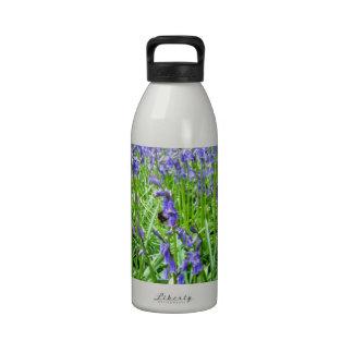 Purple blue bells blossom drinking bottle