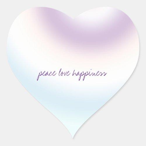 Purple Blue Blush Tie dye     Heart Sticker