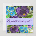 Purple - blue bold Hungarian embroidery - name day