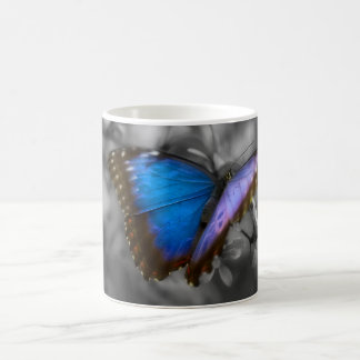 Purple Blue Butterfly Coffee Mug