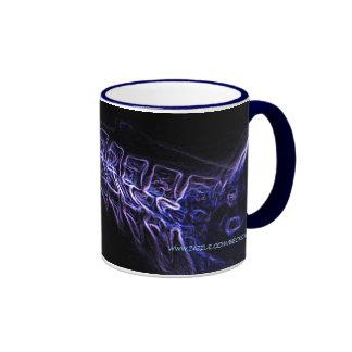 Purple Blue C-spine X-ray no text mug