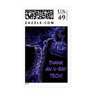 Purple/Blue C-Spine X-ray postage stamp