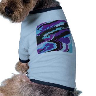 Purple Blue Camouflage Doggie Tee