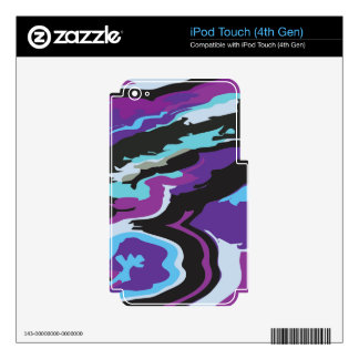 Purple Blue Camouflage iPod Touch 4G Skin