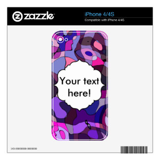 Purple blue chaos abstract design iPhone 4 skin