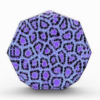 Purple Blue Cheetah Circle Abstract Acrylic Award