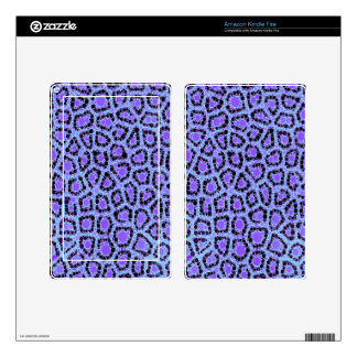Purple Blue Cheetah Circle Abstract Decals For Kindle Fire