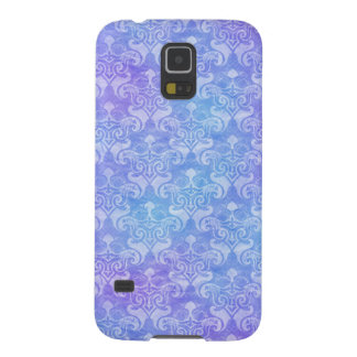 Purple & Blue Cloudy Damask Galaxy S5 Cover