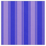 [ Thumbnail: Purple & Blue Colored Lined/Striped Pattern Fabric ]