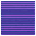 [ Thumbnail: Purple & Blue Colored Lines Fabric ]