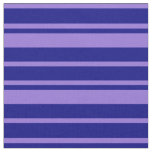 [ Thumbnail: Purple & Blue Colored Lines Pattern Fabric ]