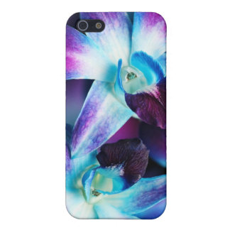 Purple & Blue Dendrobium Orchid Customized Orchids Cover For iPhone SE/5/5s