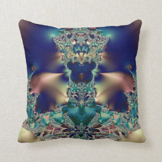 Purple Blue Design Throw Pillow