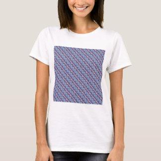 Purple & Blue Diagonal Chevron T-Shirt