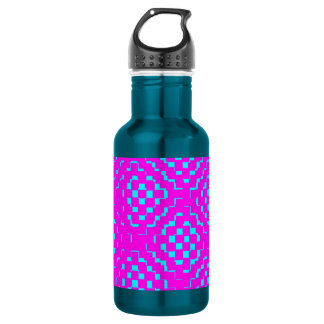 Purple Blue Diamond & Squares Stainless Steel Water Bottle