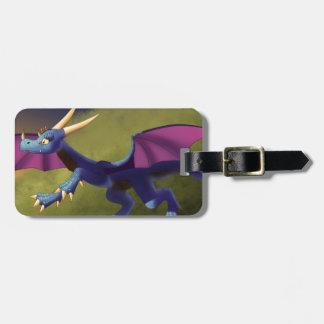 Purple/Blue Dragon 11/14/15 Bag Tag