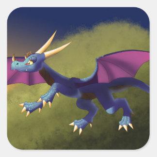 Purple/Blue Dragon 11/14/15 Square Sticker