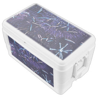 purple blue fireworks chest cooler