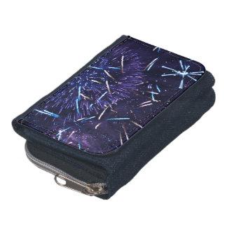purple blue fireworks wallet
