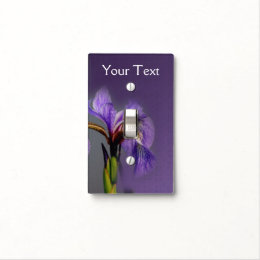 Purple Blue Flag Iris Flower Nature Light Switch Cover