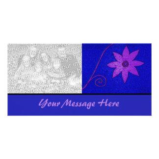 purple blue floral card