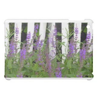 Purple Blue Flower Fence Cover For The iPad Mini