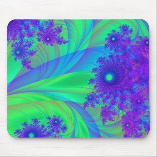 Purple Blue Flower fractals Mousepad