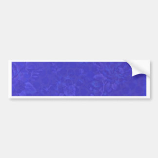 Purple Blue Flowers Bumper Sticker