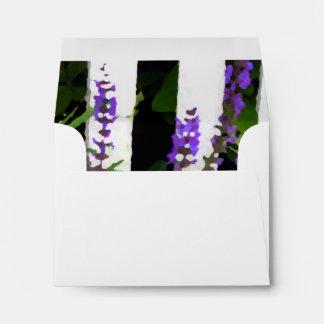 Purple Blue Flowers Fence Envelopes