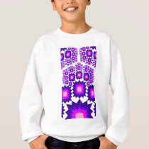 Purple & Blue Fractal Explosions: Sweatshirt