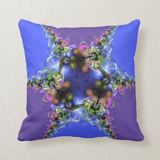 Purple Blue Fractal Twist Home Decor Jumbo Cushion