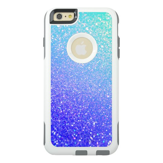 meet a8604 dc2d6 Purple Blue Glitter Ombre Otterbox iPhone 6 Case