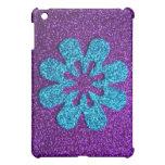 Purple & Blue Glitter Retro Flower Case For The iPad Mini