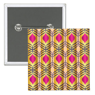 Purple, Blue & Gold Pattern Pinback Button