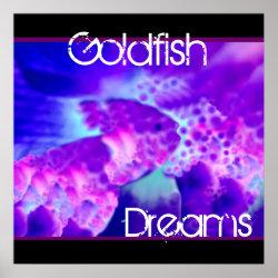 Purple & Blue Goldfish Dreams Wall Decor zazzle_print