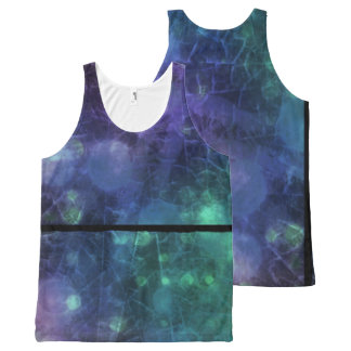 Purple, Blue & Green Abstract All Over Print Tank All-Over Print Tank Top