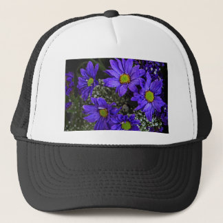 Purple Blue Green Chrysanthemums Trucker Hat