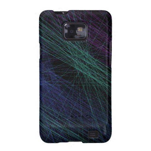 Purple Blue Green Laser Light Show Abstract Galaxy SII Case