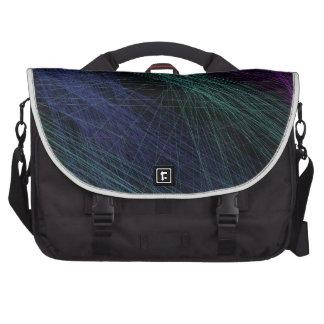 Purple Blue Green Laser Light Show Abstract Laptop Commuter Bag