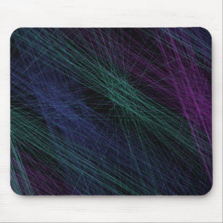 Purple Blue Green Laser Light Show Abstract Mouse Pad
