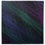 Purple Blue Green Laser Light Show Abstract Printed Napkin