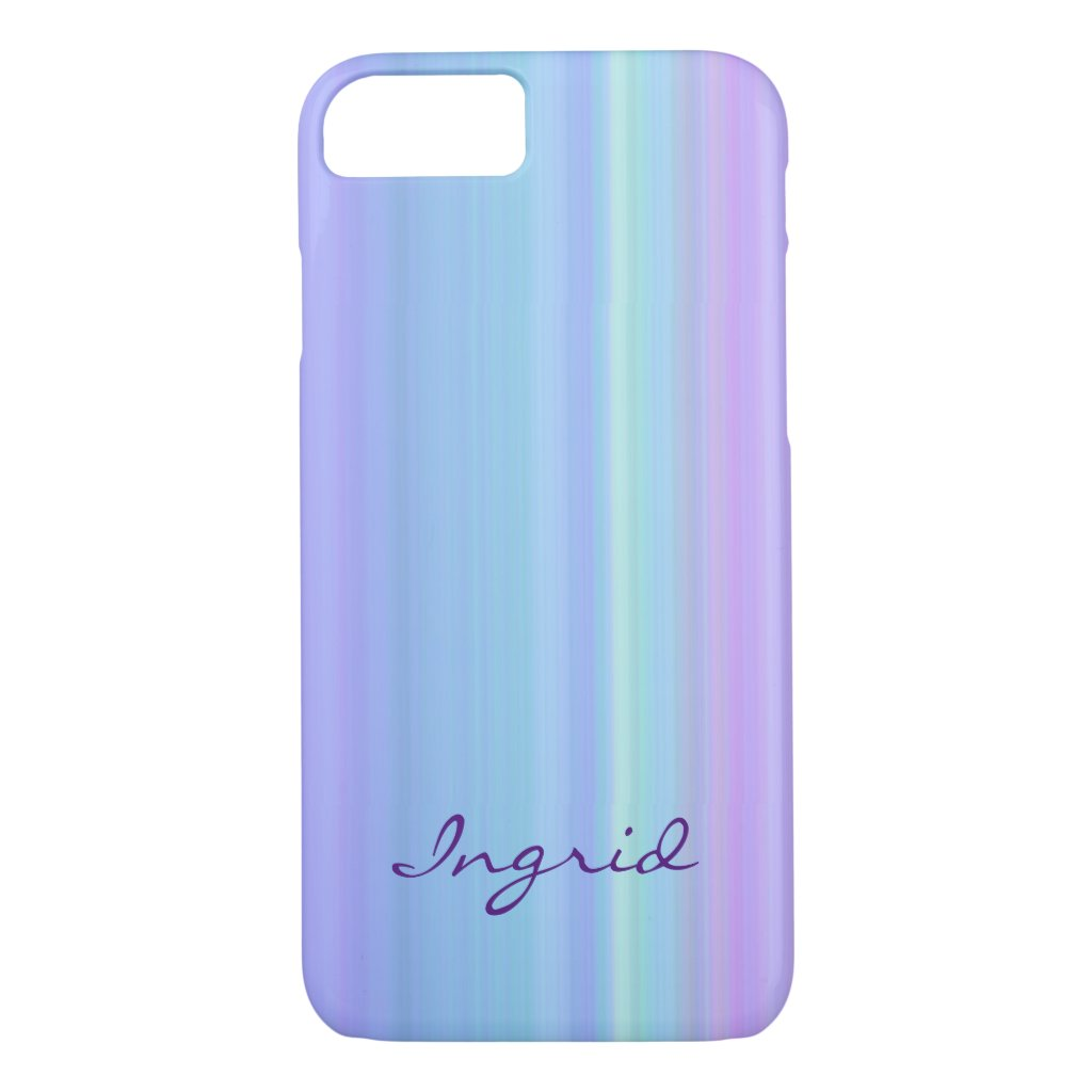 Purple Blue Green Pastel Rainbow iPhone 7 Case