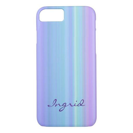 Purple Blue Green Pastel Rainbow iPhone 7 Case