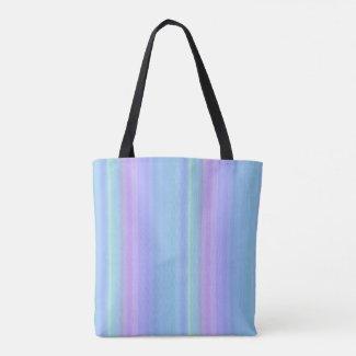 Purple Blue Green Pastel Rainbow Tote Bag