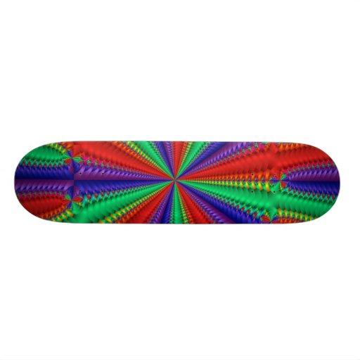 Purple-Blue-Green-Red  Skateboard
